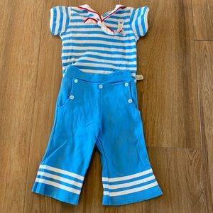 Adorable bunny sailor outfit. Two piece set. New